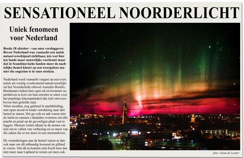 Noorderlicht boven Breda FOTOLOG post 12-10-2012 BY MENEER HOEBA
