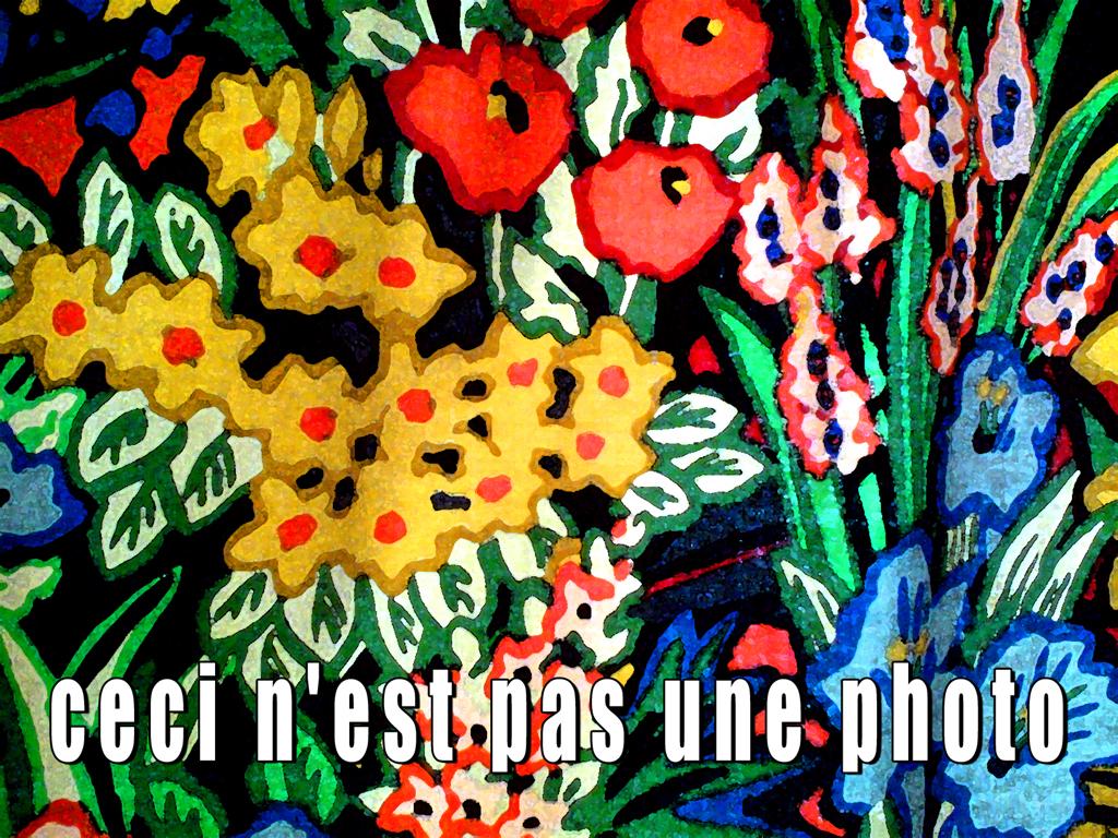 2011-2488 millefleurs ceci n'est pas 2 ARTWORK GUSTAVE PETIT