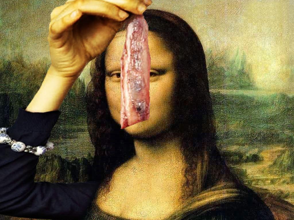 2012 montage Mona Lisa haring