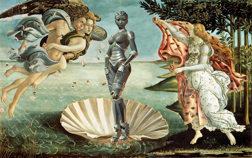 2015 update Botticelli robot Venus