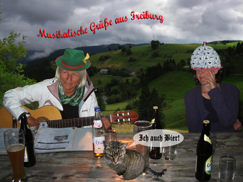 2013 - cartoon germeet1 musikalische grusse pratende kat BEELD GUSTAVE PETIT