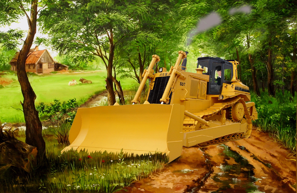 2012 - Brab landsch bulldozer BEELD GUSTAVE PETIT