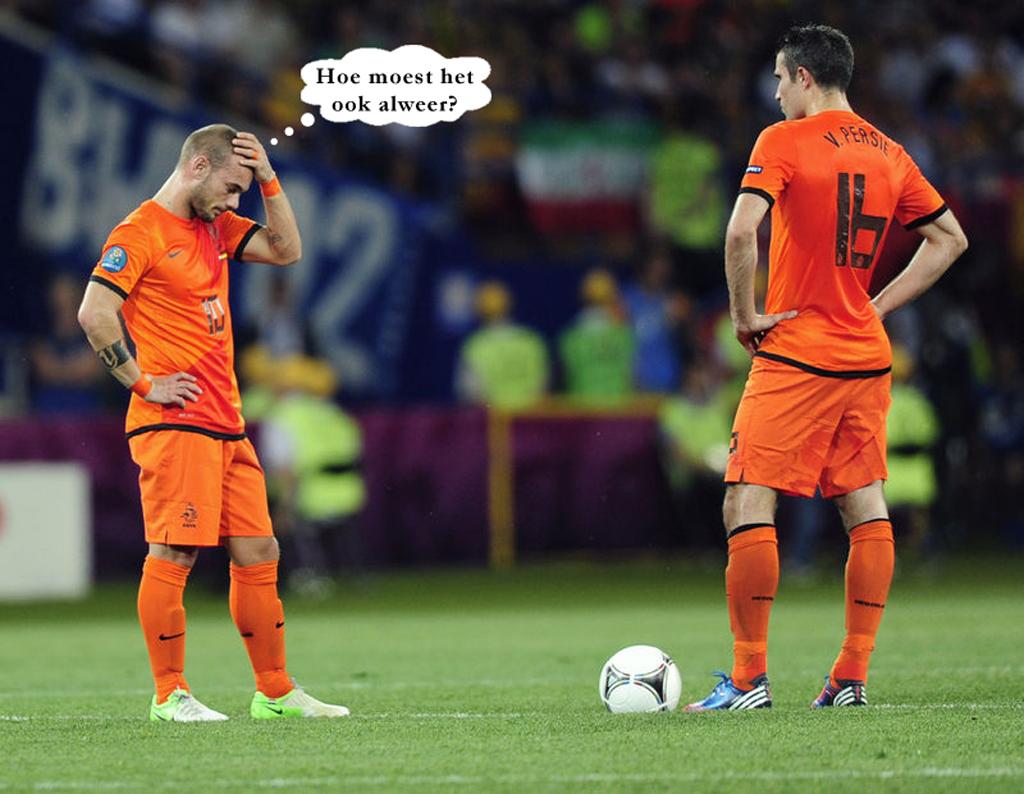 2012 - cartoon Sneijder Persie FOTO GUSTAVE PETIT