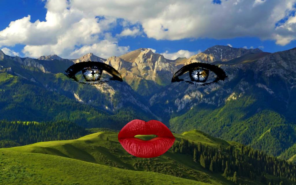 2013 - berglandschap ogen mond FOTO GUSTAVE PETIT