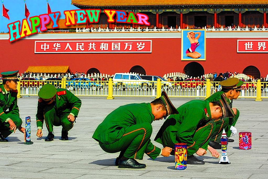 2012 - NIEUWJAAR Chinees vuurwerk BEELD MONTAGE GUSTAVE PETIT