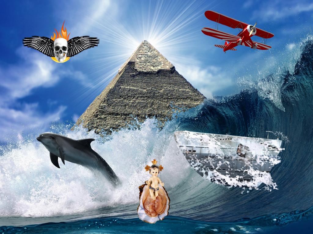2013 - piramide golf dolfijn vliegt FOTO GUSTAVE PETIT