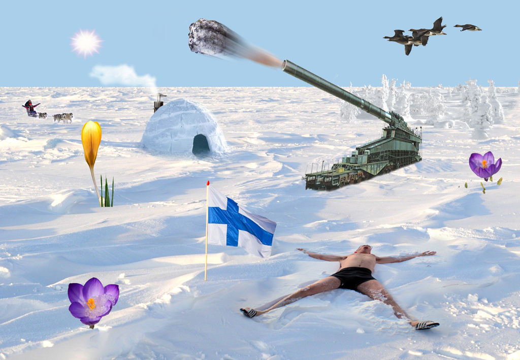 2013 - sneeuw man kanon krokus FOTO GUSTAVE PETIT